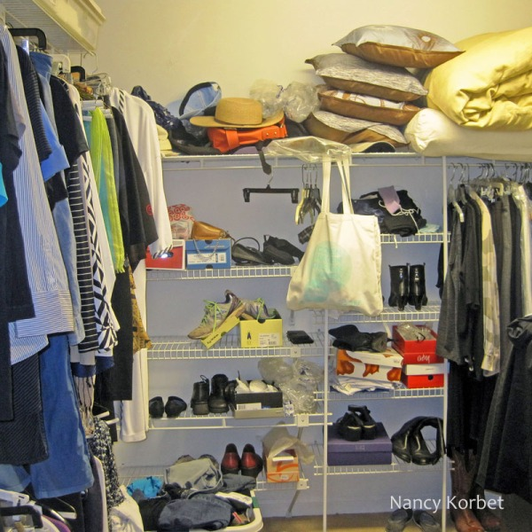 Closet reorg by Nancy Korbet