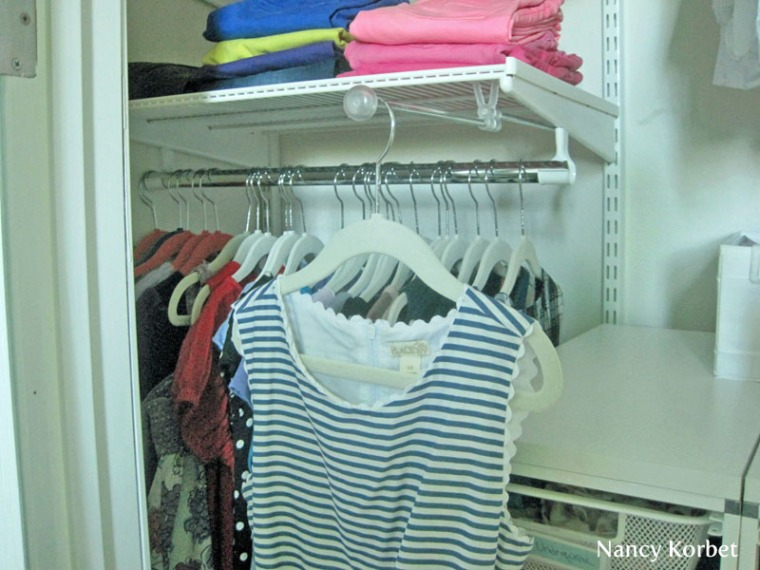 Kid's Closet Makeover with  Elfa Display Rod