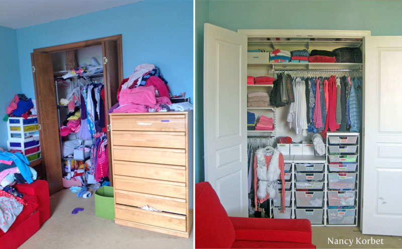 Micheles Closet Makeover By Nancy Korbet