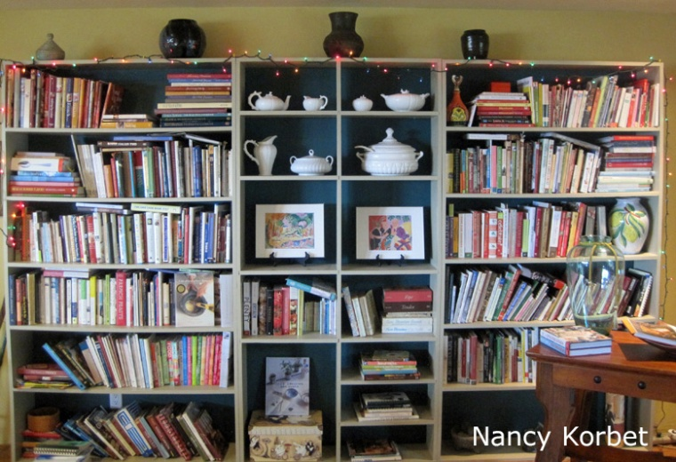 Katherine's bookcase reorg by Nancy Korbet