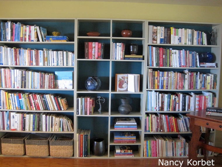 Katherine's bookshelf reorg after by Nancy Korbet