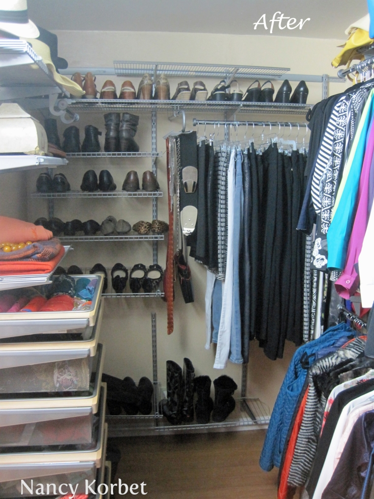 Kathy Closet Makeover by Nancy Korbet