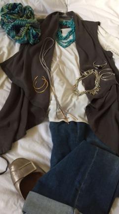 vest & jeans
